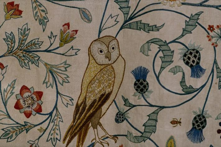 Detail in the exhibition May Morris: Art & Life, Photo: John Preece